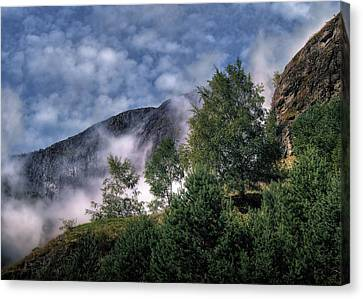 Canvas Print featuring the photograph Norway Mountainside by Jim Hill