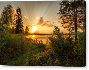Norwegian Landscape Canvas Print by Rose-Maries Pictures