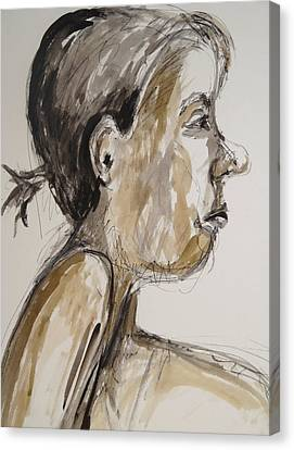 Canvas Print featuring the painting Nose Job Nose by Esther Newman-Cohen