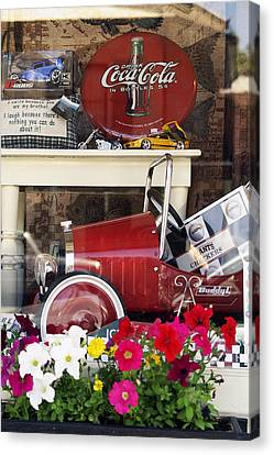 Nostalgic Window Display Canvas Print by Gary Brandes