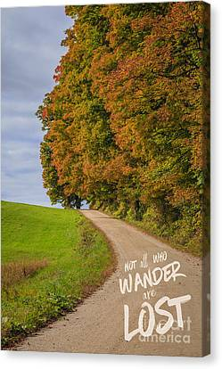 Country Lanes Canvas Print - Not All Who Wander Are Lost by Edward Fielding