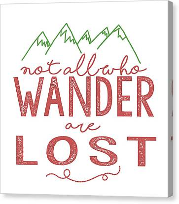 Canvas Print featuring the digital art Not All Who Wander Are Lost In Pink by Heather Applegate