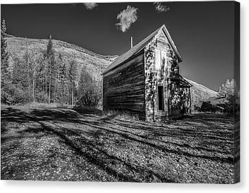 Mountain Cabin Canvas Print - Not Anymore by Jon Glaser