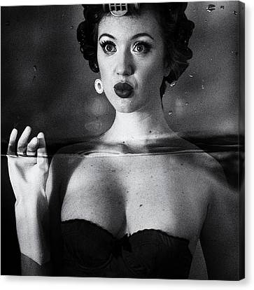 Corset Canvas Print - Not Drowning, Waving by Mel Brackstone