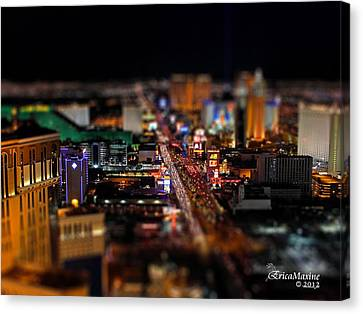 Not Everything Stays In Vegas - Tiltshift Canvas Print by EricaMaxine  Price
