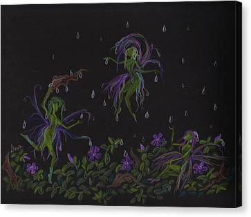 Canvas Print featuring the drawing Not Exactly Weather Wanted by Dawn Fairies