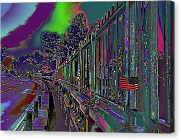 Not On Our Watch 2016 - Suicide Bridge Canvas Print by Kenneth James