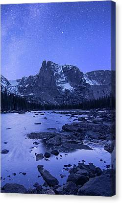 Canvas Print featuring the photograph Notchtop Night Vertical by Aaron Spong