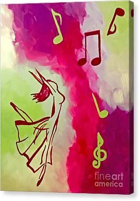 Notes Of Delight Canvas Print by Jilian Cramb - AMothersFineArt