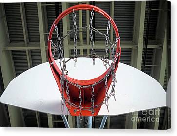 Basketball Collection Canvas Print - Nothin But Net  by John S