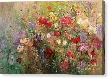 Nothing But Flowers Canvas Print by Frances Marino