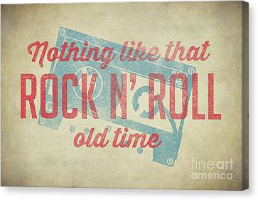 Cassettes Canvas Print - Nothing Like That Old Time Rock 2 by Edward Fielding