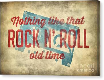 Hoodie Canvas Print - Nothing Like That Old Time Rock N Roll Wall Art 2 by Edward Fielding