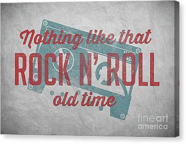 Hoodie Canvas Print - Nothing Like That Old Time Rock N Roll Wall Art 4 by Edward Fielding