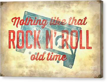 Nothing Like That Old Time Rock N Roll Wall Painting Canvas Print by Edward Fielding