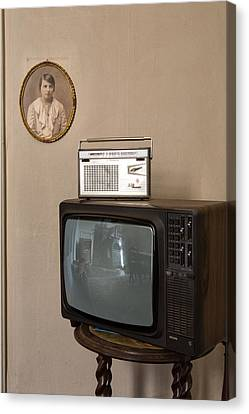 Tv Set Canvas Print - nothing on TV but radio - abandoned building by Dirk Ercken