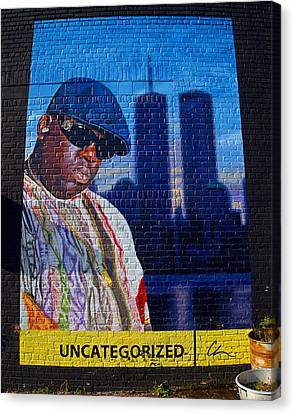Notorious B.i.g. Canvas Print by  Newwwman