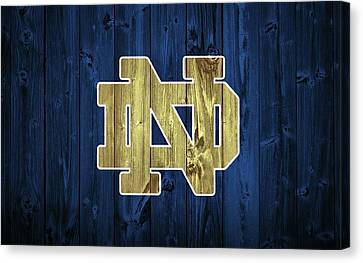 Notre Dame Barn Door Canvas Print