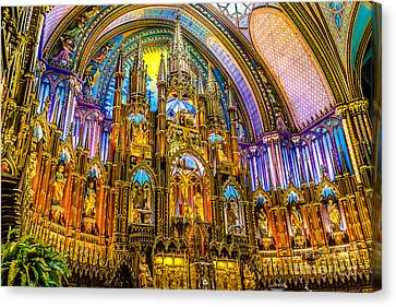 Notre Dame Basilica - Montreal Canvas Print