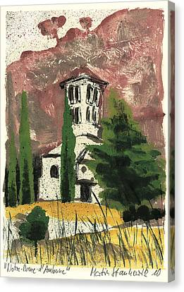 Canvas Print featuring the painting Notre Dame D'aubune by Martin Stankewitz