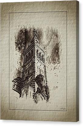 Notre-dame De La Garde Canvas Print by Jean Francois Gil