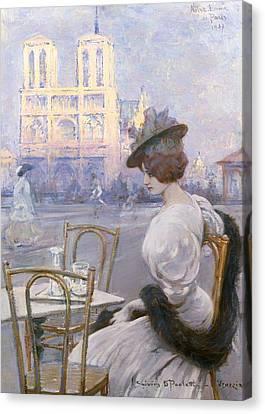 Notre Dame De Paris Canvas Print by Mountain Dreams