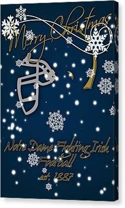 Notre Dame Fighting Irish Christmas Card Canvas Print by Joe Hamilton