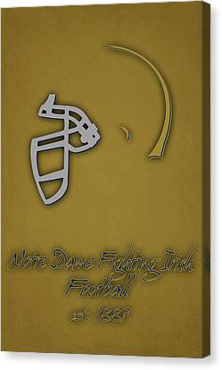 Notre Dame Fighting Irish Helmet 2 Canvas Print by Joe Hamilton