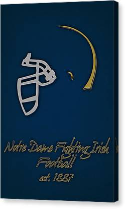 Benches Canvas Print - Notre Dame Fighting Irish Helmet by Joe Hamilton
