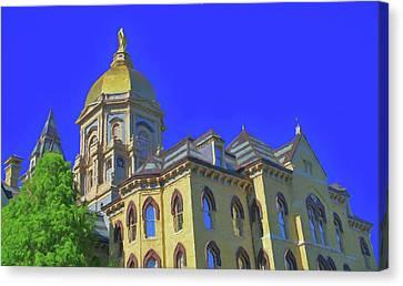 Notre Dame Golden Dome Canvas Print