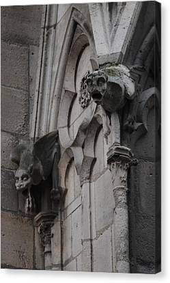 Canvas Print featuring the photograph Notre Dame Grotesques by Christopher Kirby