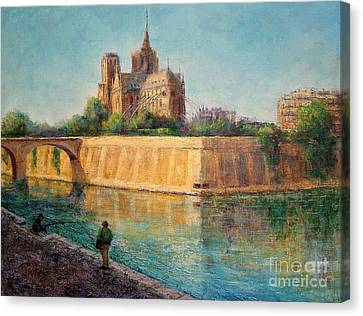 Notre Dame In Sunshine Canvas Print