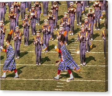 Marching Band Canvas Print - Notre Dame Marching Band by David Bearden