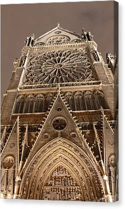 Canvas Print featuring the photograph Notre Dame North by Christopher Kirby