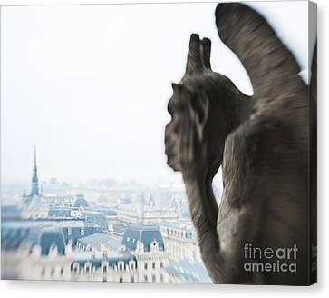 Notre Dame Paris Guardian Canvas Print