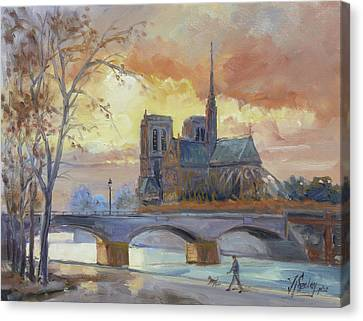 Canvas Print - Notre Dame - Sunset, Paris by Irek Szelag