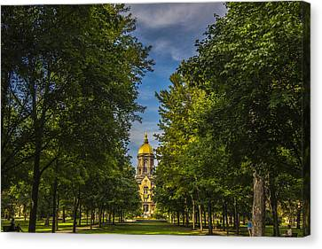 Notre Dame University 2 Canvas Print by David Haskett