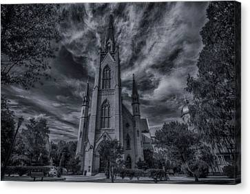 Notre Dame University Church Canvas Print by David Haskett