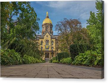 Notre Dame University Q Canvas Print by David Haskett