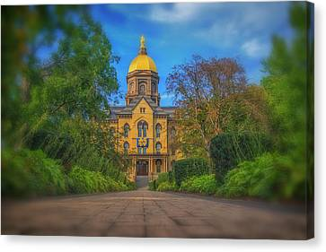 Notre Dame University Q2 Canvas Print by David Haskett