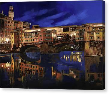 Notturno Fiorentino Canvas Print by Guido Borelli