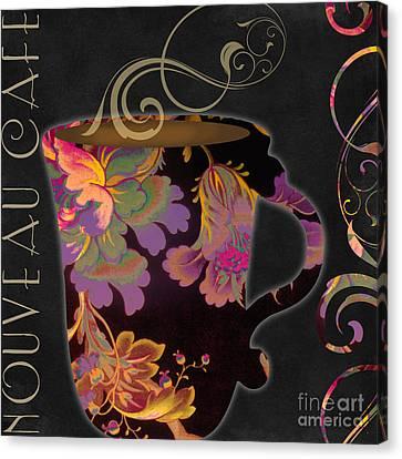 Textile Art Canvas Print - Nouveau Cafe Warm by Mindy Sommers