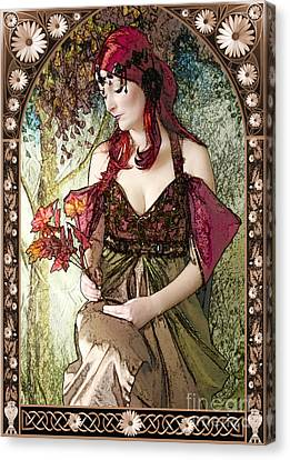 Mucha Canvas Print - Nouveau by John Edwards