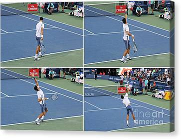 Novak Djokovic Canvas Print by Anthony Djordjevic