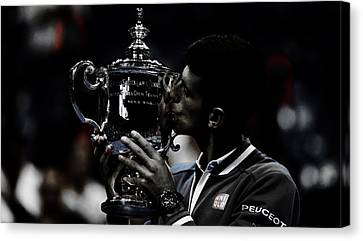 Novak Djokovic Canvas Print by Brian Reaves
