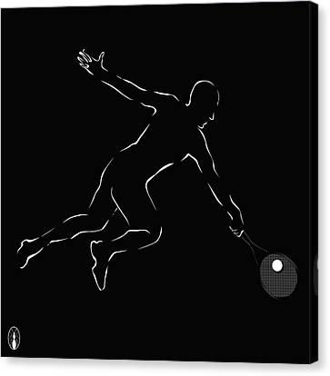 Novak Djokovic Canvas Print by Robert De Monos