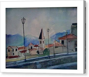 Novara Revisited Canvas Print by Angela Puglisi