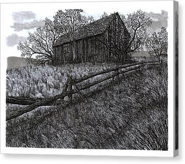November At The Farm Canvas Print by Jonathan Baldock