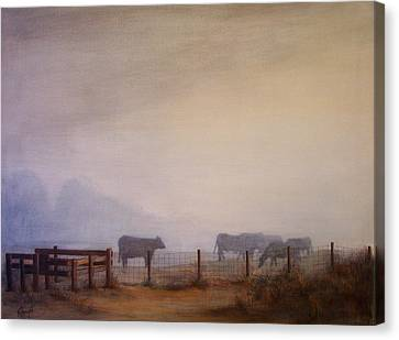November Dawn Canvas Print by Victoria Heryet