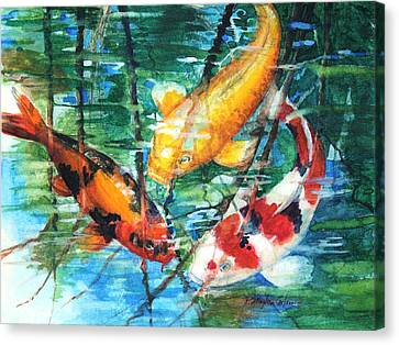 November Koi Canvas Print by Patricia Allingham Carlson